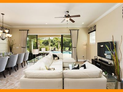 Photo for Reunion Resort 283 - villa with pool, outdoor kitchen & game room near Disney