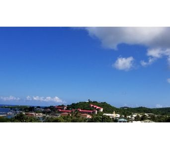 View of Christiansted Harbor on a typical clear day in America's paradise
