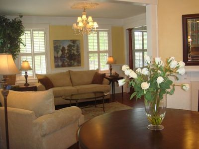 Luxuriously furnished 1400 sq. ft. of living space with loads of light!