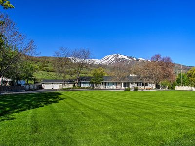 Photo for Wellsville House w/Mtn Views, Yard & Tennis Court!
