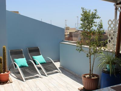 Photo for 2 Bedroom Penthouse with a nice private terrace 5min to beach