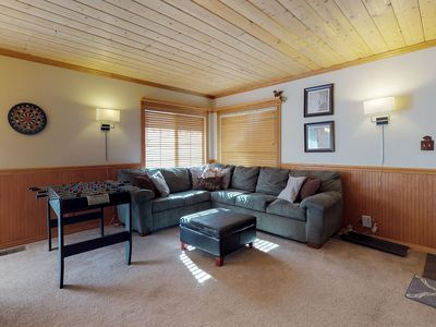 Photo for Mountainview cabin with a private hot tub, deck space, fireplace, and more!