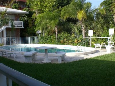 Pool Area: Is right outside your door, quiet, clean and shared by only 10 units.