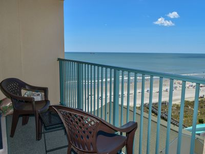 Photo for 3 NIGHT MINIMUM.  2 Bedroom 2 Bath Ocean VIEW  Condo with Outdoor Pool, Lazy River, and Jacuzzi