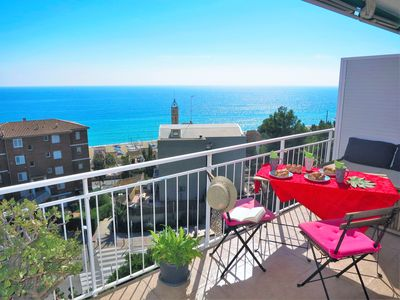 Photo for NURIA SEAVIEW & BEACH-apartment, balcony, parking, wifi, 3 bedrooms, whirlpool