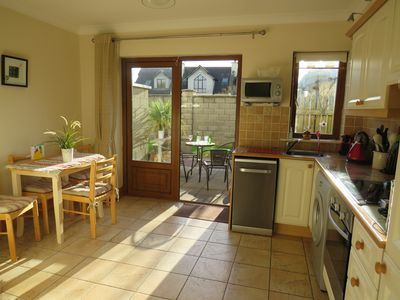 Sunny Kitchen & Patio Area