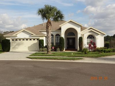 Executive home with no rear neighbors and very private pool area