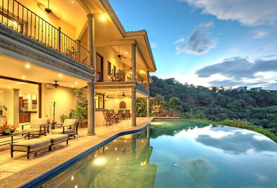 Back of Villa Facing Gulf of Papagayo with Expansive Infinity Pool