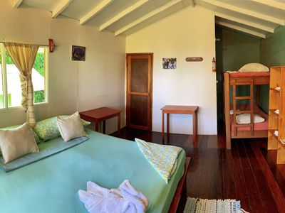 Photo for Great cabin perfect for family vacations in nature area garden view near beach
