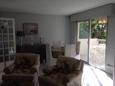 Photo for Quiet residence, Saint-Raphaël, 2 bdrms, terrace unobstructed view swimming pool, near golf