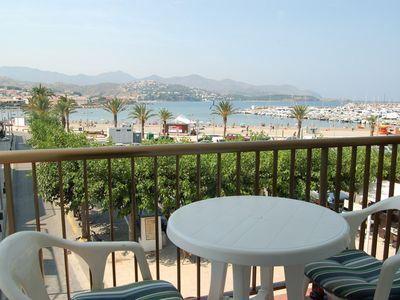 Photo for Bright apartment with wonderful panoramic views to the seafront. It is situated in the hea