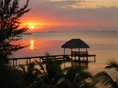 Enjoy sunrises and the cayes over the reef from your decks.