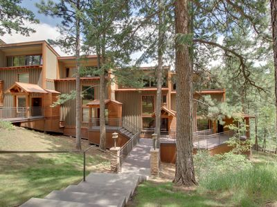 Photo for Two-level condo with valley views, shared pool, & deck - near skiing & boating!