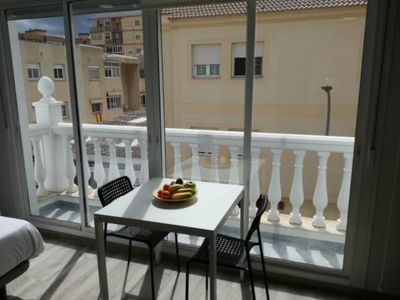 Photo for Lola Beach: Charming Studio Apartment on the Beach Close to Historic Centre with Balcony, Air Conditioning & Wi-Fi