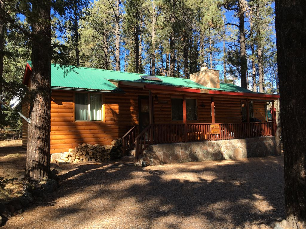 Greer cozy affordable mountain cabin with great for Cabins to rent in greer az