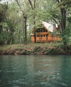Our log cabin is on the Ocoee River