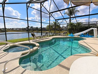 Photo for 6 BR Waterslide Home 4.5 Miles To Disney World!