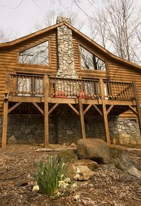 Photo for Serenity Meets Convenience with this Cozy Log Cabin