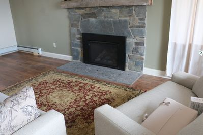 Fireplace in Vermonter Suite