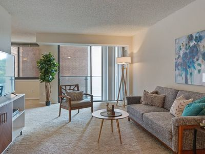 Photo for Modern Apartment Just Outside DC + Gym + Pool
