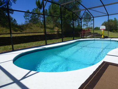 View from our private south facing pool