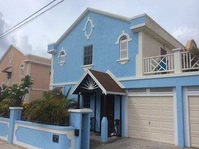 New Seagrass exterior. Freshly painted in bright sky blue.