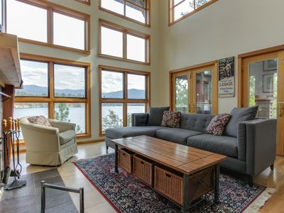 Photo for Gorgeous lakefront home w/ stunning views & private dock - dogs ok!