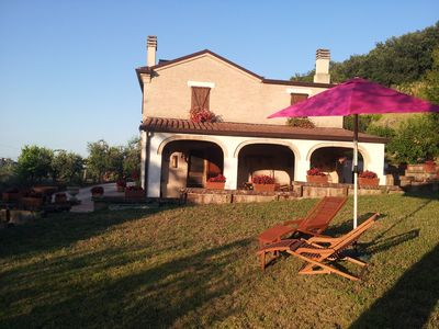 Photo for House in the countryside with swimming pool in the province of Fermo.