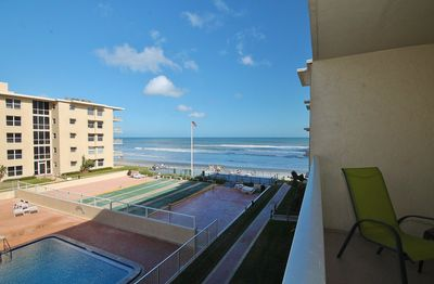 View from Balcony to the Beach
