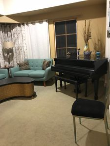 baby grand piano family heirloom sounds great for you musicians out there.