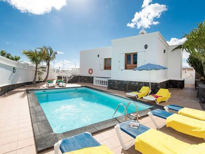 Photo for Villa Ramos Dos: Large Heated Private Pool, Sea Views, A/C, WiFi, Car Not Required
