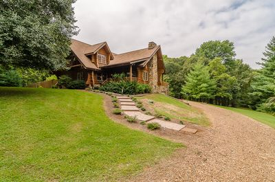 Lovely Log Lodge nested on 7acres voted 1 place to stay in the  Nashville area