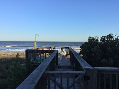 My deck leads straight to the ocean.  No need to drag anything to the beach.