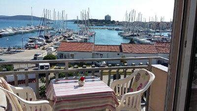 Photo for Apartments Marina View, Ap 2, 4 people, balcony, sea view, free WiFi, parking