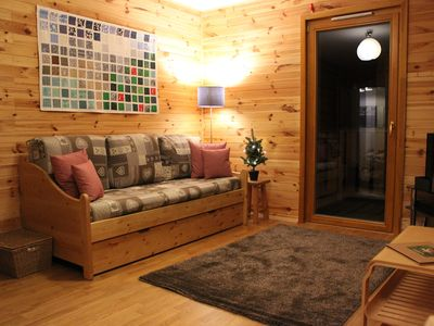 Photo for Lovely modern, 52sqm, well equipped, spacious apartment + garage.  Summer/winter