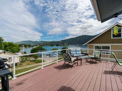 Photo for Lake Chelan home w/ a private pool and hot tub, lake views, and a game room