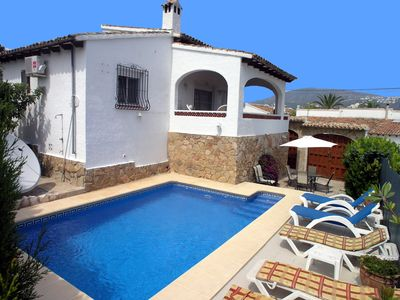 Photo for Private owned 3 bed detached Villa, Private Pool, air con & wifi sleeps 6+1 baby