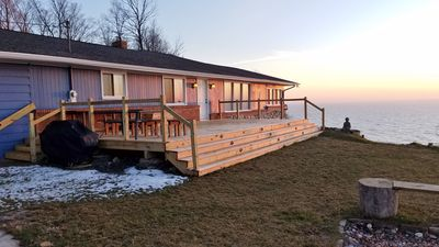 Photo for Panoramic Views Of Lake Michigan, Large Lakeview Deck, Game Room, Sleeps 12!
