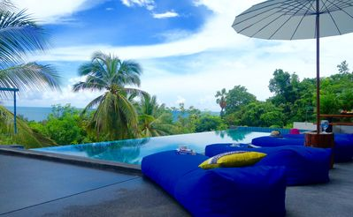 Photo for Luxury tropical Sea View Pool Villa Philippa+car