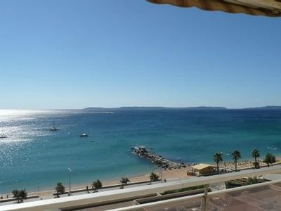 Photo for Sea and Beach Front Apt 3 *** Gde Terrace, 7em flo Res Le Grand Large Lavandou