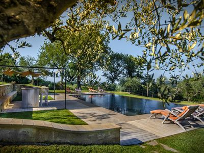 Photo for The villa and pool offer breathtaking views of sight