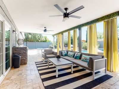 Photo for NEW LISTING! Chic, family-friendly house w/ a private pool & beautiful backyard
