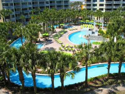 Photo for CHECK OUT LOW AUGUST RATES! BAYSIDE CONDO-GORGEOUS VIEW OF LAZY RIVER & BAY