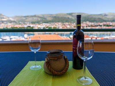 Photo for Apartment Trogir city/amazing view/parking