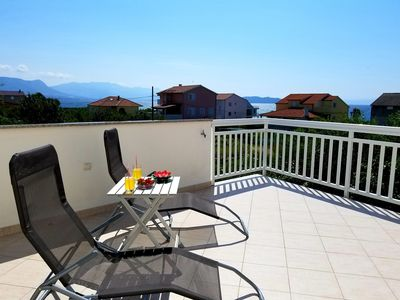 Photo for Seaview Apt with 35m2 seaview terrace, BBQ ,3 minutes walking to the beach
