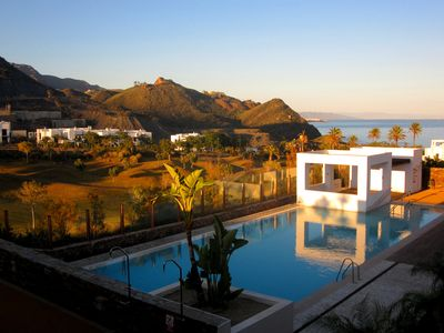 Photo for Spacious Modern Apartment (sleeps 6 people) Directly overlooking the Med.