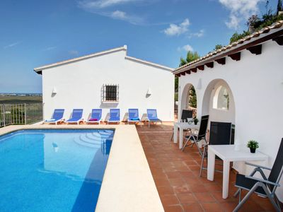 Photo for 4 bedroom Villa, sleeps 9 in Molinell with Pool, Air Con and WiFi