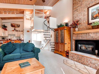 Photo for 20% Off Spring! WiFi, Gas Fireplace, Onsite Parking, Heated Pool/Hot Tub Access