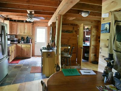 Photo for Cozy hand-built cabin in the heart of wine country, near mountains and Mayberry