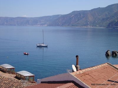 Photo for Double room overlooking the sea of ​​Scilla in the village of Chianalea